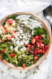mixed green salad with strawberries. Contemporary Strawberries Mixed Green Salad With Strawberry Apple And Herb Dressing Throughout With Strawberries G