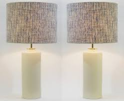 pair of pale yellow pastel ceramic pottery table lamps zaccagnini italy lamp lighting via antica