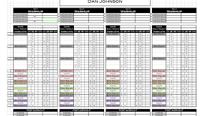 workout excel templates excel personal training templates excel training designs