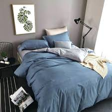 queen size duvet set simple covers plain blue and grey bedding flat bed south africa