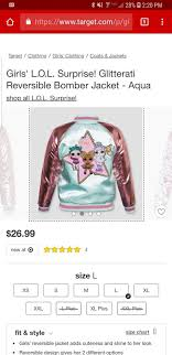 Lol Surprise Doll Bomber Jacket Target Clothes Bomber