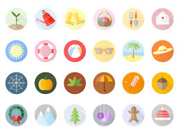 season al seasonal icon set by helen campbell dribbble dribbble