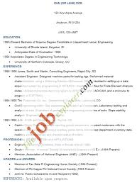 Examples Of Resumes 8 Sample Curriculum Vitae For Job How To Write A