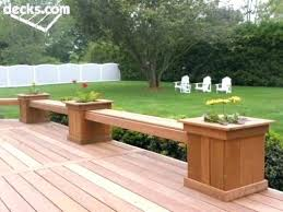 deck boxes with seats box like the built in planters benches seating picture gallery planter