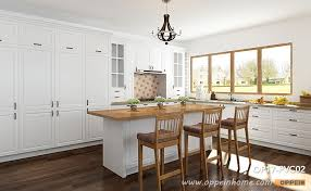 transitional white l shaped kitchen with island op17 pvc02
