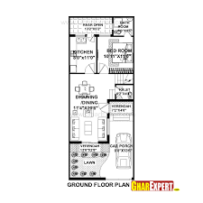 144 Square Feet House Plan For 20 Feet By 50 Feet Plot Plot Size 111 Square Yards