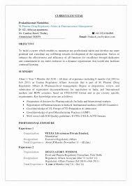 Resume Format For Freshers Pharma Job Resume Template Ideas
