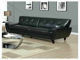 black modern sofa elegant leather mid century simple couch a59