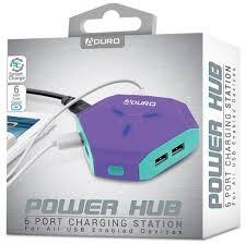 Aduro 6 Port Usb Charger Blinking Light Hexagon Powerup 6 Port Usb Hub Walmart Com