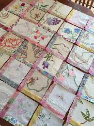 1864 best Quilting images on Pinterest   Quilting ideas, Table ... & If ur making a hankie quilt, and one is smaller than the rest, add vintage  fabric around border Adamdwight.com