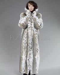 women s full length lynx fur stroller coat