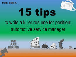 Auto Service Manager Resumes Automotive Service Manager Resume Sample Pdf Ebook Free Download