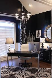 chic home office design home office. home office ideas dark blue walls silver and white accents chic design