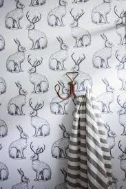jackalope wallpaper over textured walls one little minute blog 35