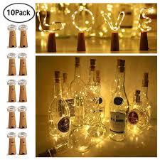 String Light Wine Bottle 20 Led Bottle Cork String Lights Wine Bottle Fairy Mini String Lights Battery Operated Starry Lights For Diy Christmas Halloween Wedding Party Indoor