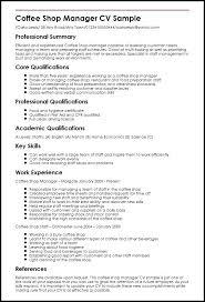 Management Analyst Job Description Cool Coffee Shop Manager Sample Resume For Management Analyst Mmventuresco