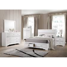 coaster miranda 4 piece california king storage panel bedroom set