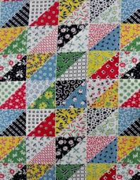Vintage flour sack quilt. My Grandma & my Aunt used to make the ... & Full vintage feedsack fabric in colorful patchwork by oodles Adamdwight.com