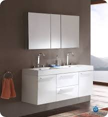 white double sink bathroom  fresca opulento fvnwh white modern double sink bathroom vanity w medicine cabinet