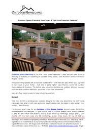 Outdoor Space Design App Outdoor Audio Visual Systems Houston Designer Shares Tips