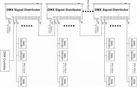1 4 8 channels optional dmx signal distributor,used for amplifying Belden 9727 Wiring-Diagram DMX 1 to 8 dmx signal distrbutor connection diagram