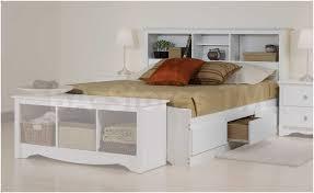 white full storage bed. King Size Storage Bed Plans. Headboard With Shelves Headboards White For 2018 Also Full
