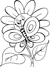 Coloring Pages For Kids Flowers Cute Flowers Coloring Pages Simple