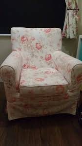 ikea jennylund armchair with fl pattern cover
