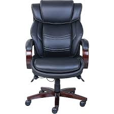 executive leather office chair. la-z-boy dresden leather executive office chair, fixed arms, black ( chair