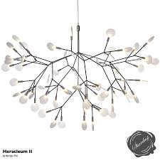 moooi heracleum ii led flower chandelier