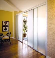 frosted glass room dividers with silver frame finish inspirational gallery sliding door privacy ideas for doors