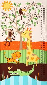 Chart Jungle Kids Growth Chart Jungle Animal Fabric Timeless Treasures