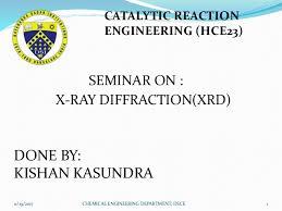 Xrd X Ray Diffraction Presentation