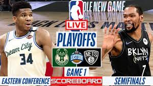 NBA LIVE : MILWAUKEE BUCKS VS BROOKLYN NETS GAME 1 | PLAYOFFS SCORE BOARD  STREAMING TODAY