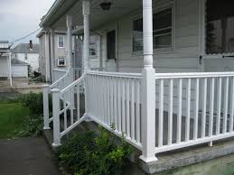 exterior wood railing. amazing front porch railings you should consider : home exterior design idea usng white painted wooden wood railing n