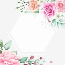 Romantic Watercolor Flowers Frame For Cards Composition
