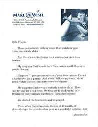 Fund Raising Letters Impressive SOFII How I Wrote It The MakeAWish Foundation's Prospect Letter