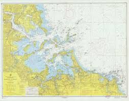 Boston Harbor Chart Historical Nautical Chart 246 3 1959 Boston Harbor