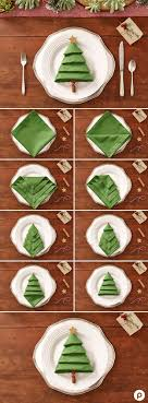 Christmas Tree Napkins: Turn a green napkin into a lovely Christmas craft  with this linen