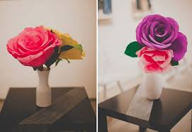 Wedding Paper Flower Centerpieces Diy Giant Paper Rose For Your Wedding