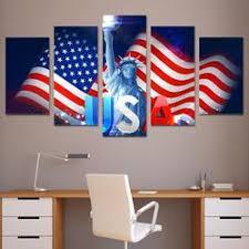 usa flag lady liberty multi panel canvas art print 5 piece on americana canvas wall art with americana prints hygge artworks