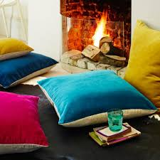 season Hygge homeware Velvet tactile soft cushions home trend fur scented  feelgood candles
