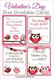 owl valentine s day cards to print.  Valentine Free Owl Valentineu0027s Day Printable Cards With Valentine S Day Cards To Print W