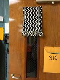 classroom door with window. Classroom Door Curtain For Lock Down Drills, Though Our School Now Wants All Open. Depends On The School, Maybe. With Window O