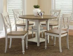 Five Piece Drop Leaf Table And Double X Back Chairs Set By Liberty