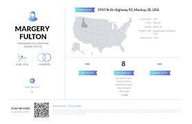 Margery Fulton, (208) 588-2267, 5915 N Us Highway 93, Mackay, ID ...
