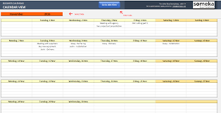 Calendar Excel Template Automatic Schedule Planner