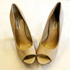 details about steve madden ptoe heels wood womens pumps 8 5 wedding prom