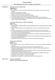 Analog Designer Resume Samples Velvet Jobs