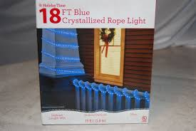 Holiday Time 18 Ft Crystallized Rope Light Blue Holiday Time Christmas Lights 18 Rope Light Blue